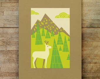 white deer bee land limited edition print