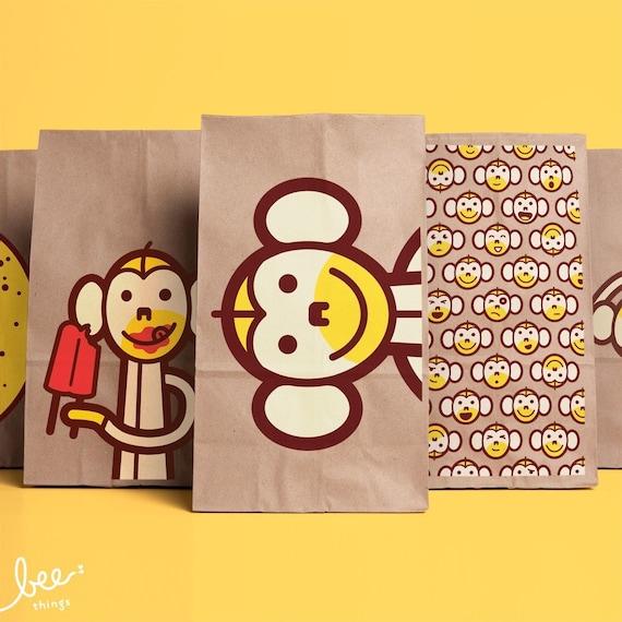 monkey lunch bags