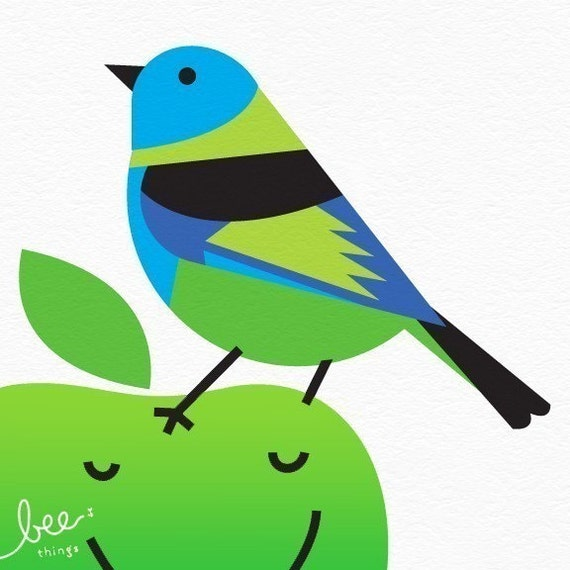 green-headed tanager limited edition print
