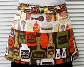 Kiss the Cook Zipper/Key Clasp Vendor Apron