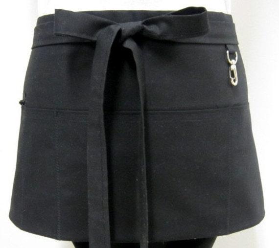Organic Black Zipper/Key Clasp Vendor Apron-Choose Your Color