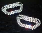 Vintage 50s 60s Rhinestone Shoe Clips Pair