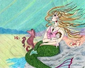 Mermaid and child set of four cards