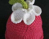 6-12 months - Flower Hat for the Budding Child in Pink