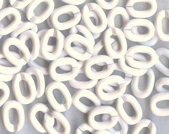 small smooth SPLIT Links WHITE