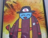 Firefighter Creature Original Framed Drawing