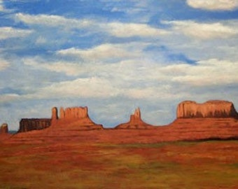 Impressionist Painting Monument Valley