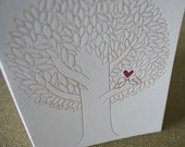 Letterpress Greeting Card, Love Birds