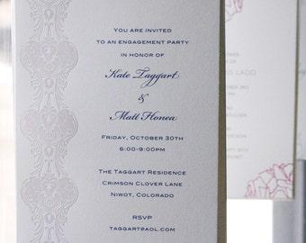 Printable Letterpress Wedding Invitations