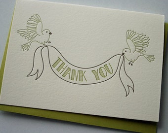 Thank You Cards, Birds & Banner