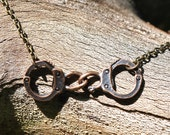 Antiqued Handcuff Necklace
