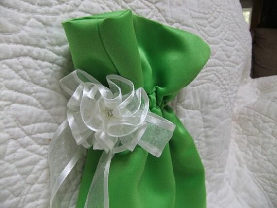 Eco Friendly Reusable Gift Bag - Lime Green