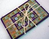 Set of 10 Vintage Playing Cards - Purple Turkish Rug Pattern