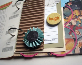 """You Are My Sunshine Upcycled Premade Mini """"Junk"""" Journal/Album/Scrapbook"""