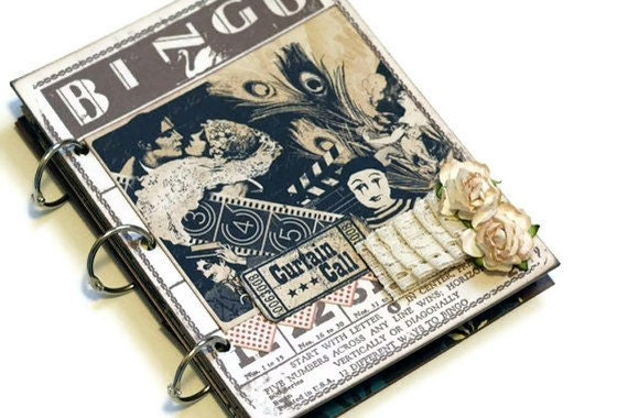 You Ought To Be In Pictures Mixed Media Premade Art Journal/Scrapbook