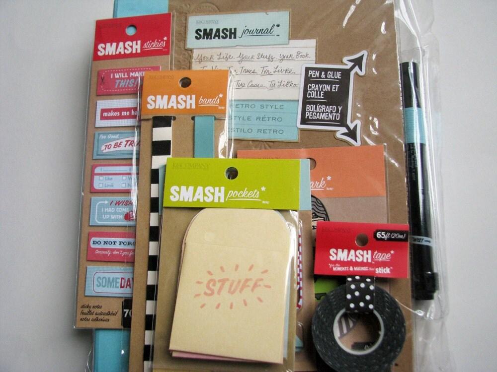 Pretty Pink SMASH Folio Gift Pack | Smash book, Gift packs ... |Smash Folio Journal Kit