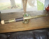 Vintage brass and braided leather telescope