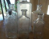 six vintage medicine bottles from the 1950s