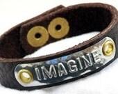 Custom Cosmic Leather Bracelet