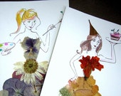 RESERVED LISTING - Set of two cards for Orlita47
