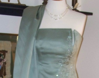 SALE  Vintage Michael Angelo Satin Formal 1970s to1980s size 4
