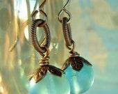 Sky blue vintage earrings