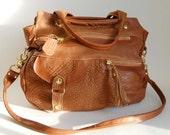 5 pocket Okinawa bag in cognac- clip on shoulder strap