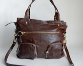SALE - 5 pocket willow bag in earth brown