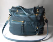 SALE - 6 pocket Okinawa bag in teal