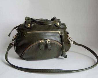 Medium Shikotsu bag in olive/army