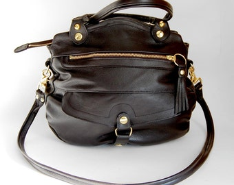 5 pocket Medium Oaxaca bag in black