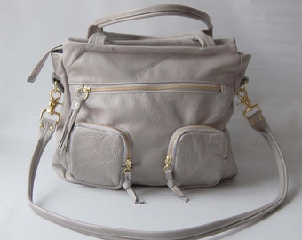 5 pocket willow bag in cement grey