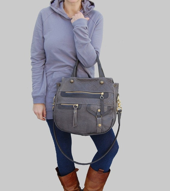 N E W  5 pocket Okinawa bag in dark grey- clip on shoulder strap