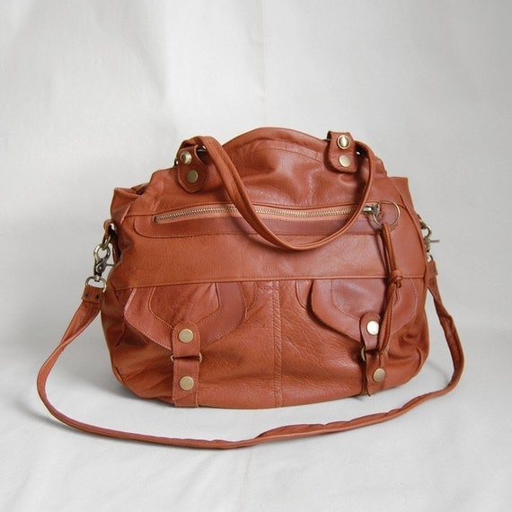 Larch Onishi hybrid bag in whiskey- clip on cross body strap - RESERVED
