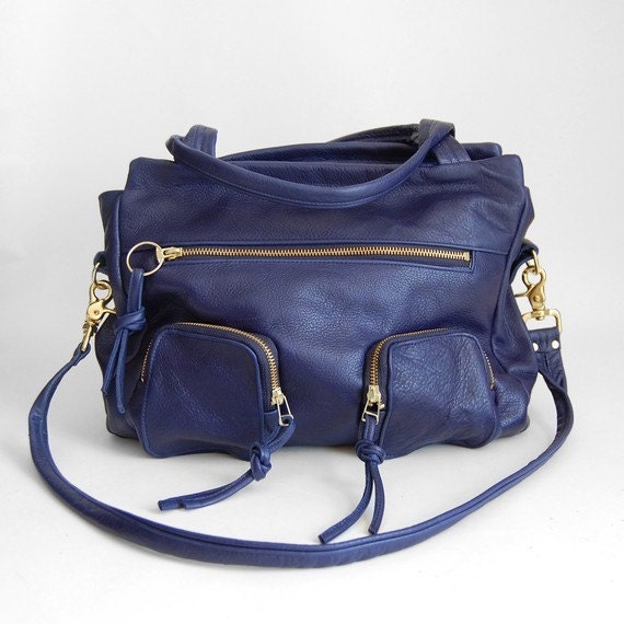 Willow bag in deep blue