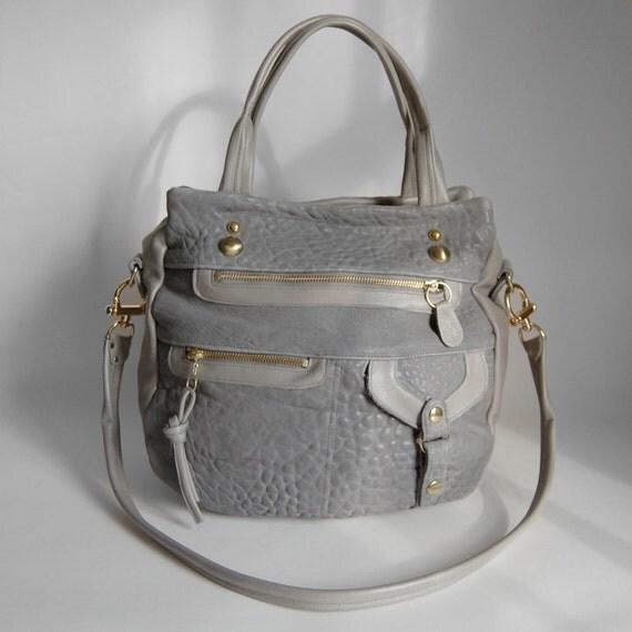 SALE - 6 pocket Okinawa bag in cement grey