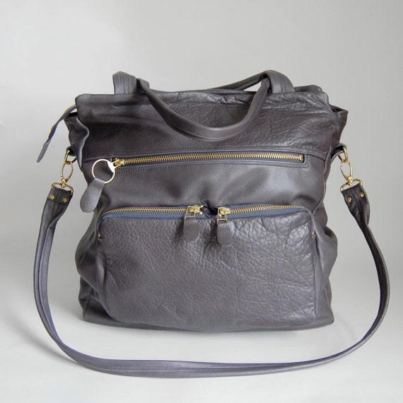 S A L E - Tall Willow tote bag in graphite