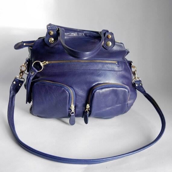 SALE - 5 pocket Shikotsu bag in deep blue
