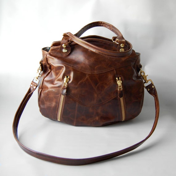 SALE - Larch bag in distressed tobacco