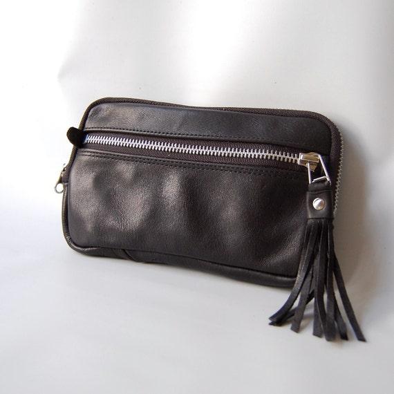 4 pocket Large wallet in black/silver