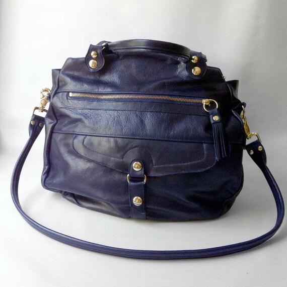 SALE - Oaxaca bag in deep blue