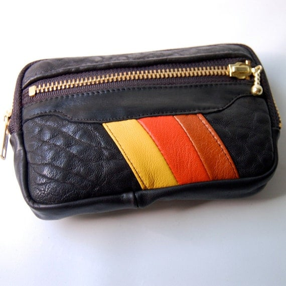 Wallet in black/orange