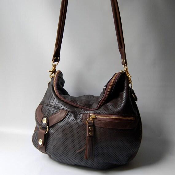 SALE - Large Alberta hand bag in brown