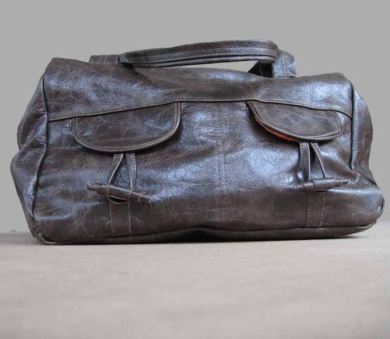 4 pocket medium -large travel bag - brown distressed
