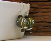African Ceramic Earrings