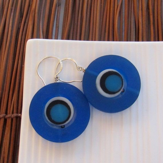 Nautical Earrings - Resin and Sterling Silver