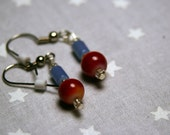 Red and Blue Earrings