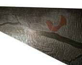 O-bird - Huge Painting on Carved Wood...  Deep Texture Artwork. Custom-made-to-Order.