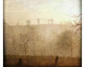 hiver (Landscape Photography - Fine Art Print - Autumn - Country - Trees - Fog - Monochromatic - Wall Art  - painting - Brown - Sienna)