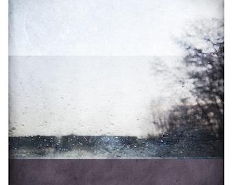 Ben Mauve  (Abstract Photography - Fine Art Print - Nature - Rain - Purple - Painting)
